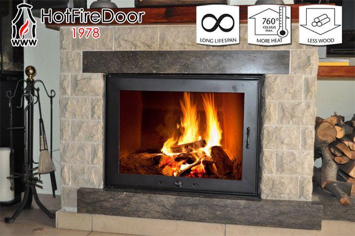 Ahorro energ tico con las nuevas puertas para chimeneas - Combustibles para chimeneas ...