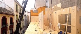 Foto de Detalle de obra edificio eco-pasivo