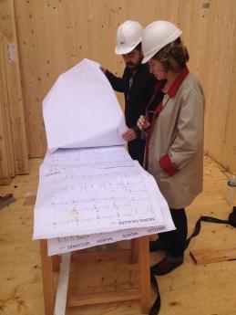 Foto de Trabajo en el interior de un edificio eco-pasivo