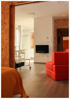 Foto de Interior de apartamentos en edificio eco-pasivo