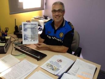 Foto de El jefe de la Policía Local de Polinyà apoya VioPet