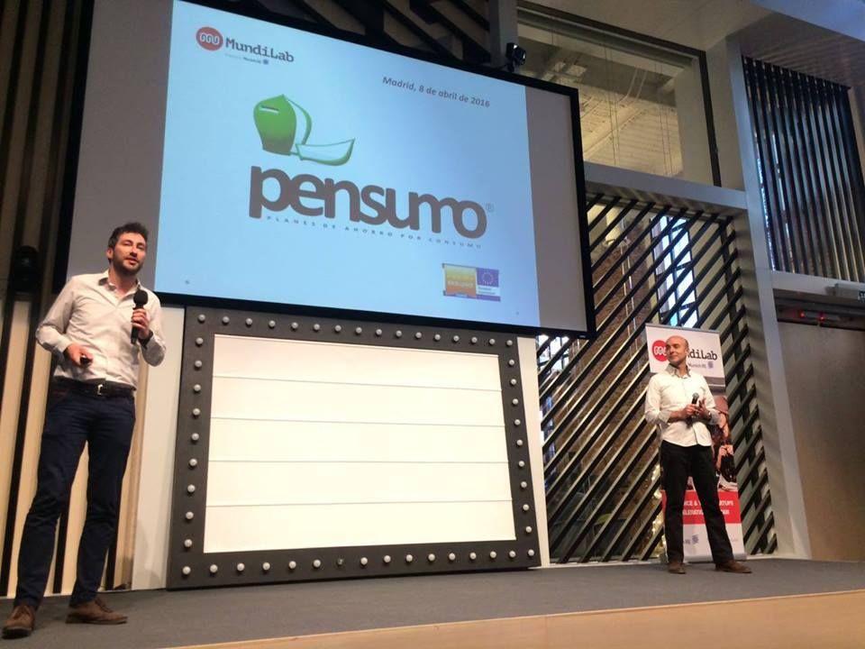 Fotografia El equipo Pensumo presentando en el Campus Google de Madrid