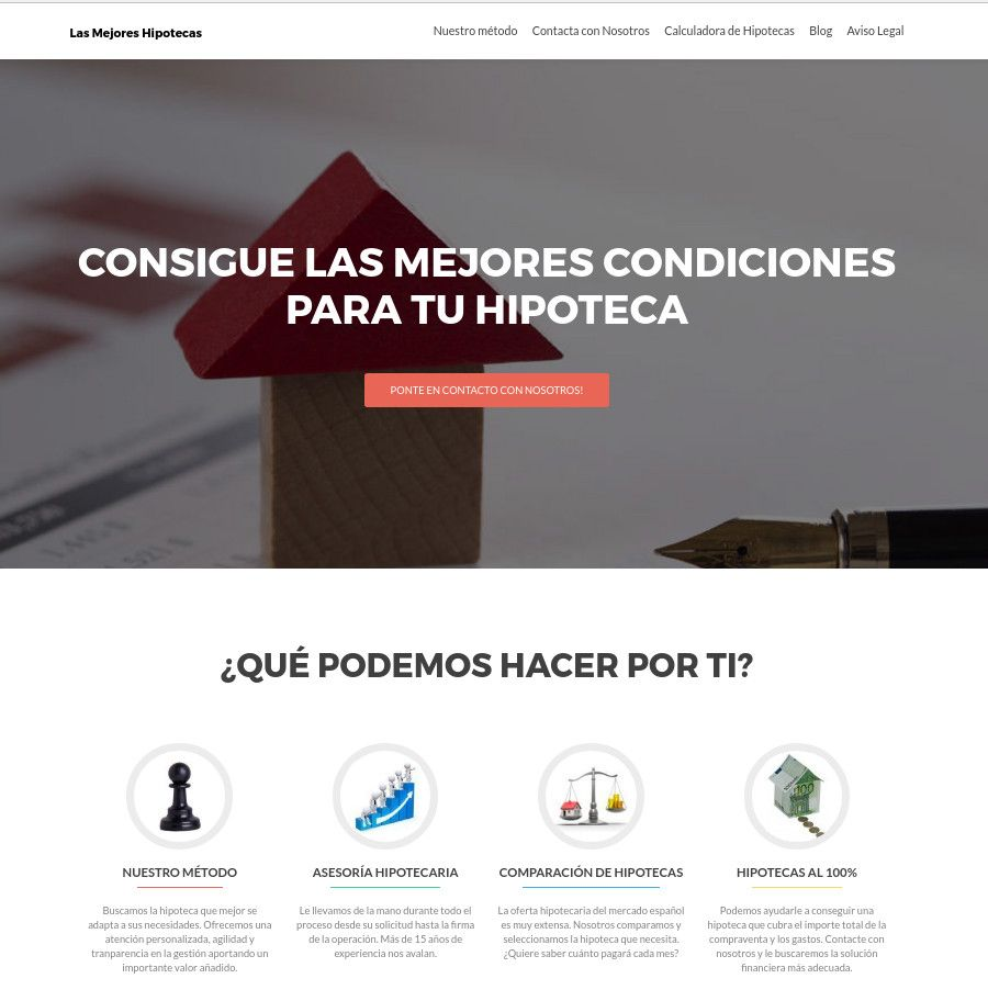 Foto de Web Lasmejoreshipotecas.es