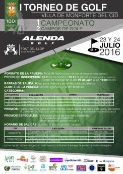 I Torneo de Golf Villa de Monforte del Cid, en la Costa Blanca