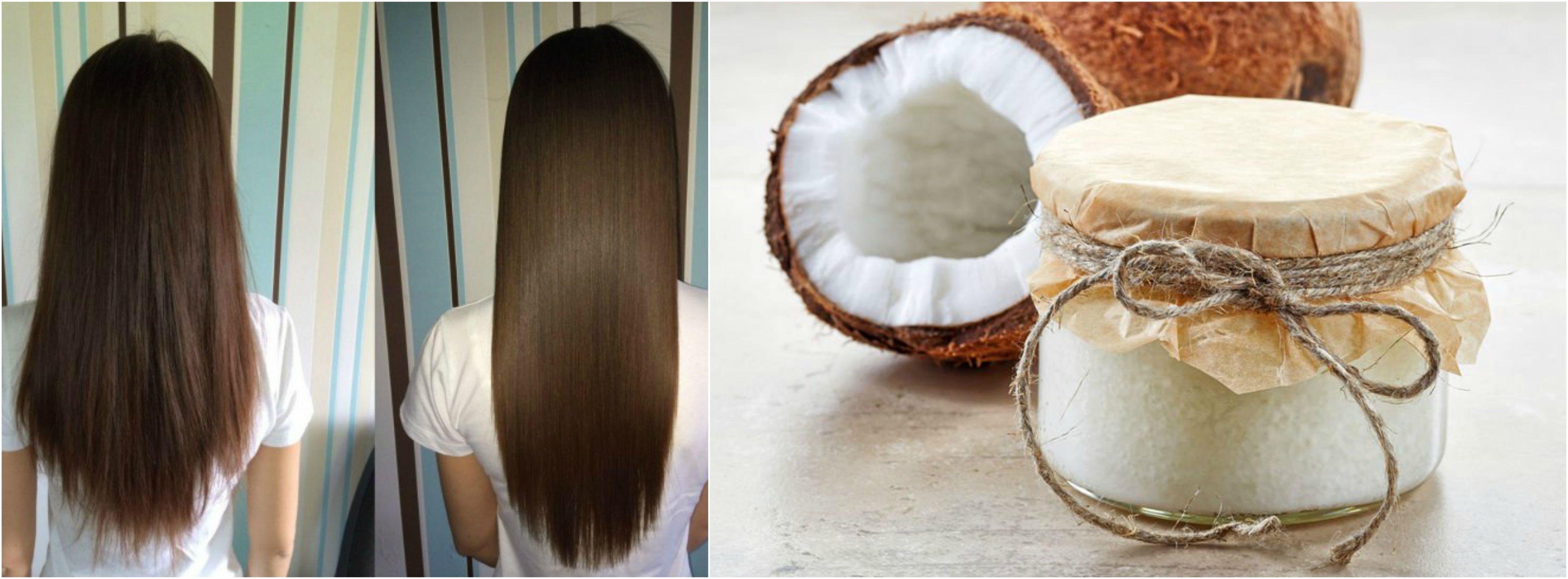 Aceite coco para el pelo