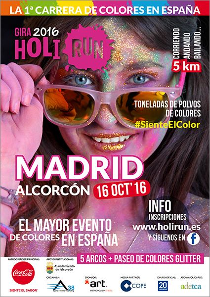 Foto de Cartel Holi Run Madrid