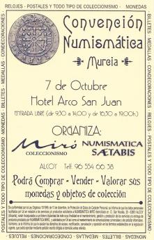 Cartel de la Convención Numismática de Murcia