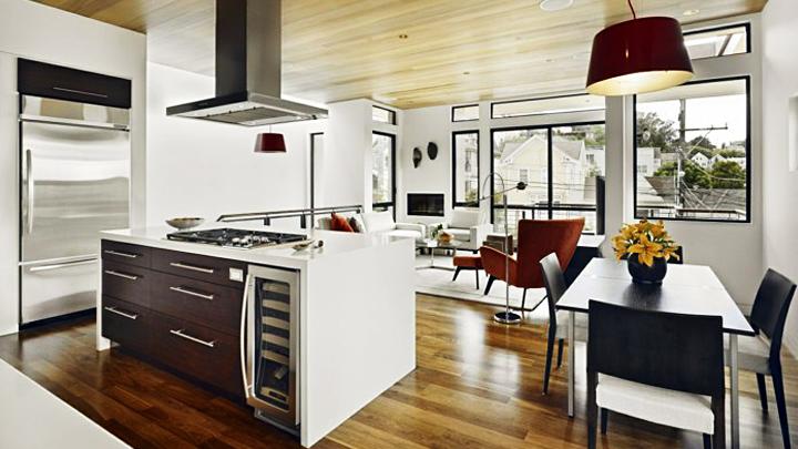 Decorar y comunicar el sal n el comedor y la cocina - Decorar cocina comedor ...