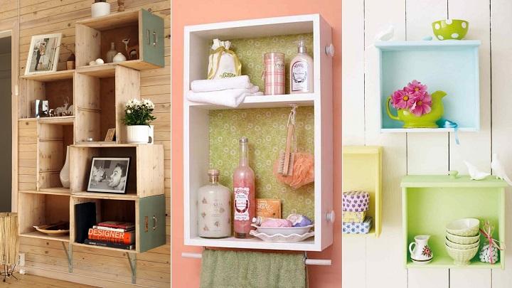 Ideas que permiten reciclar de manera original los cajones for Decoracion del hogar con reciclaje