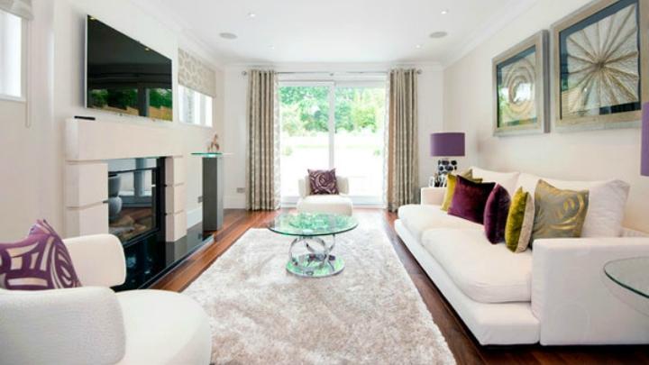 Ideas para decorar salones rectangulares aprovechando al - Decorar salones cuadrados ...
