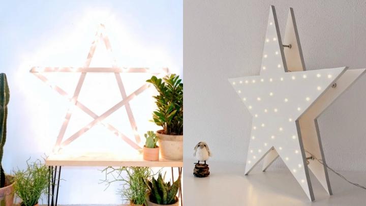 no es necesario que sea navidad para decorar la casa con esta estrella luminosa gigante de hecho es un adorno que se puede reutilizar durante el resto del