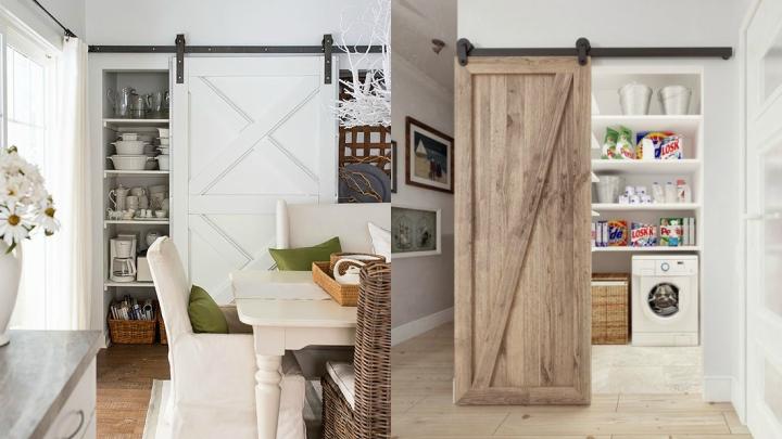 Las puertas graneros pueden servir para decorar de forma original ...
