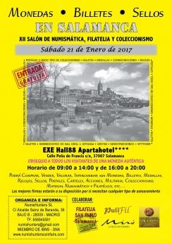 Cartel del XII Salón de Numismatica, Filatelia y Coleccionismo de Salamanca