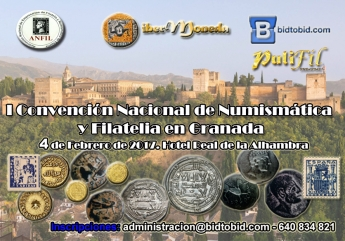 Cartel de la I Convención Nacional de Numismática de Granada