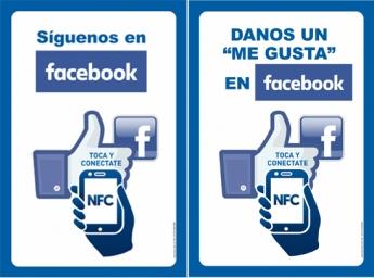Smart Poster NFC Más seguidores más Me gusta en Facebook de Akrocard