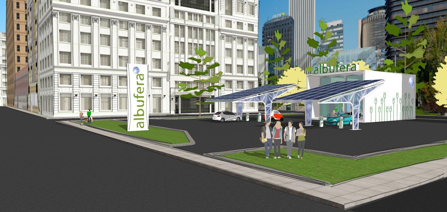 Foto de Infografía punto de recarga de coches electricos Proyecto