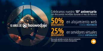 10 Aniversario de Hoswedaje