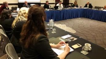 Foto de La Dra. Querol en la Conferencia de la NSA