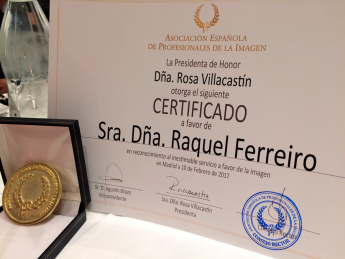 Certificado AEDEPI Raquel Ferreiro