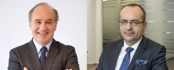A la izquierda, Iñaki Eguía, Consejero Delegado de Q Diagnostica, y a la derecha, Dimitris Moulavasilis, CEO de Affidea Group.
