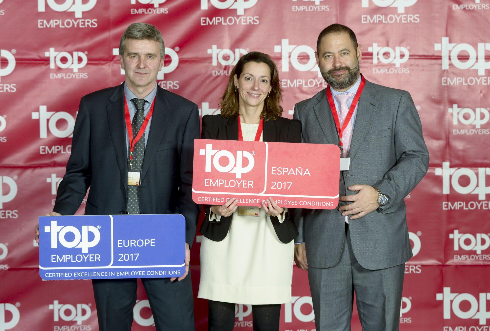 Foto de Entrega de los Premios Top Employwer España y Europa