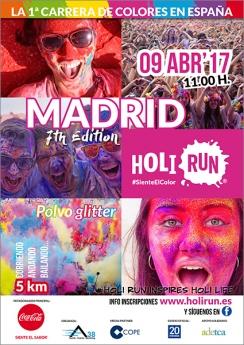 Cartel Holi Run Madrid 7th Edition
