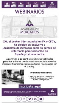 Weminarios de trading Academia de Mercados - XM