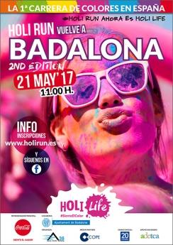 Cartel Holi Run Badalona