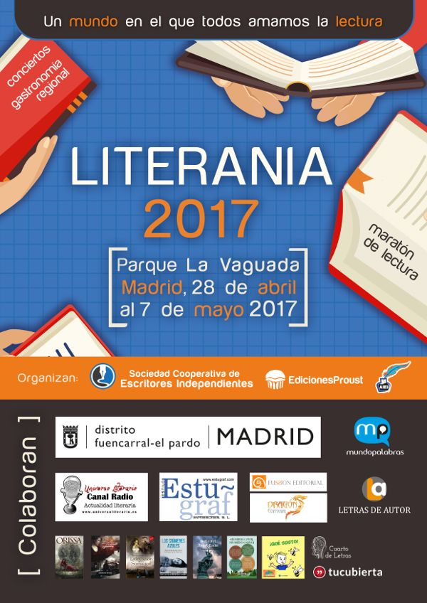 Festival Literania 2017 nace para promover la lectura y apoyar a los escritores emergentes