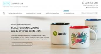 Nueva web de tazaspublicidad.es