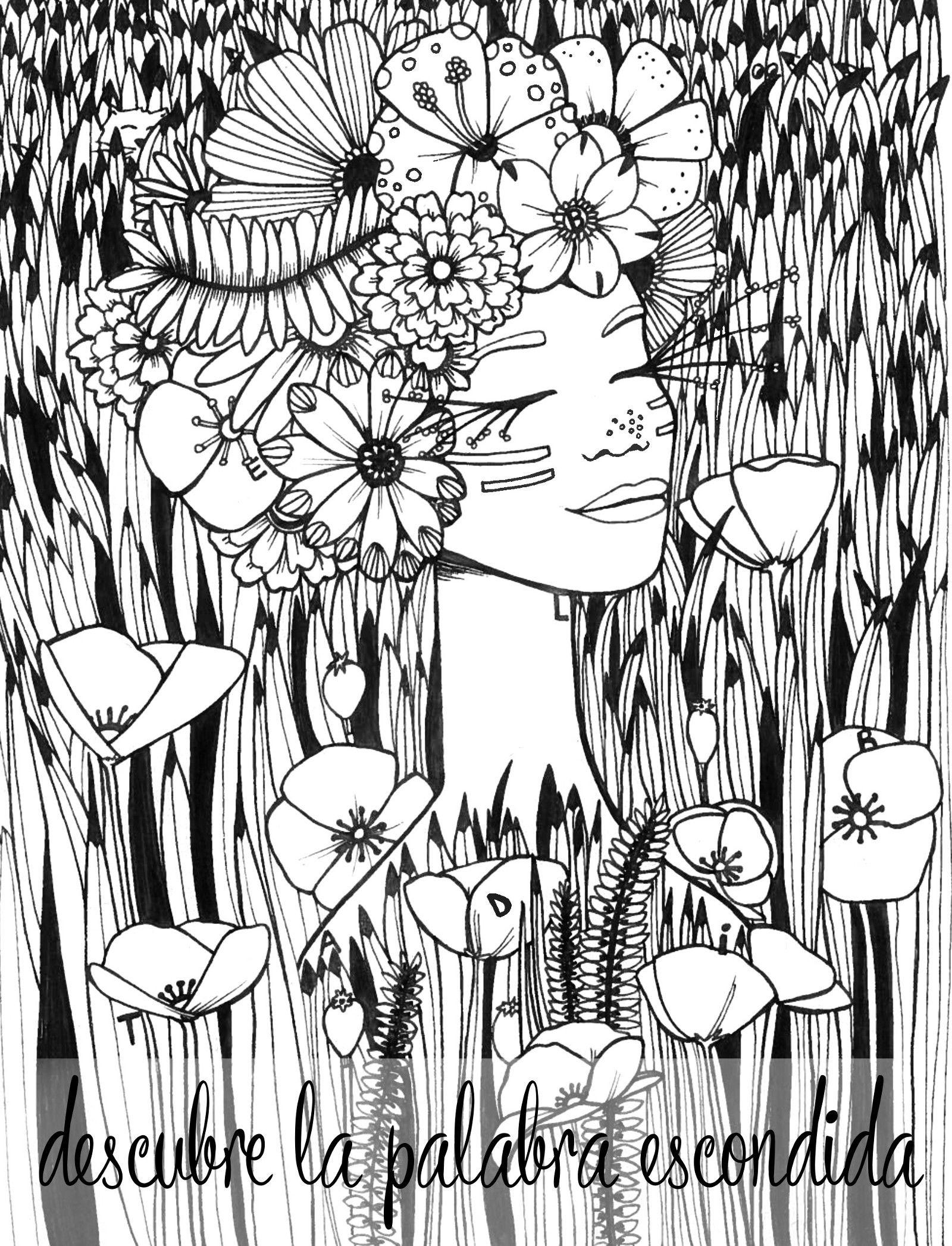 La ilustradora Verónica Maraver reinventa los libros de colorear ...