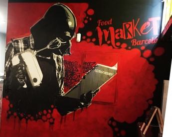Foto de Uno de los grafittis de Tato Repeto que decoran las paredes