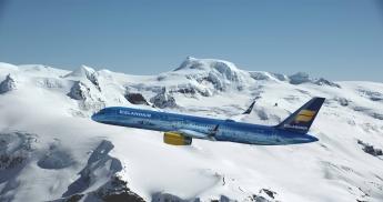 Icelandair transforma uno de sus aviones en un glaciar