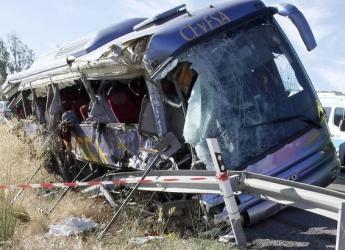 Autobus tras siniestro