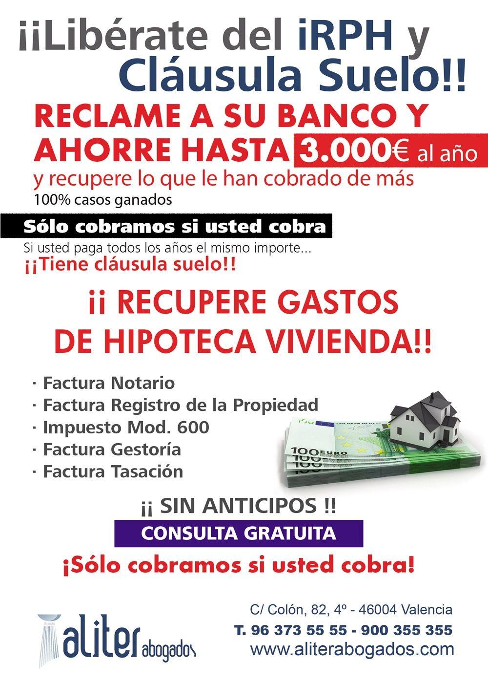 Evento informativo en valencia para recuperar el dinero de for Que es la clausula de suelo