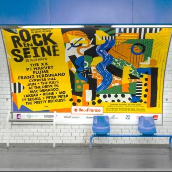 Diseño de Atelier Bingo para el festival Rock en Seine