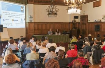 Imagen de la Jornada Profesional organizada el pasado año por el COEGI en los cursos de verano de la Universidad del País Vasco.