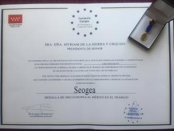 Foto de Diploma Aedeec para Seogea