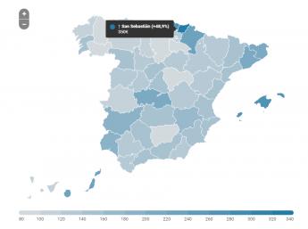 Los alquileres vacacionales en San Sebastián suben un 48,9% entre junio y julio