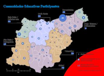 Foto de Mapa de los centros educativos participantes.