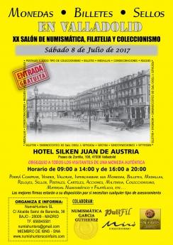 Cartel del Salón de Numismática, Filatelia y Coleccionismo de Valladolid