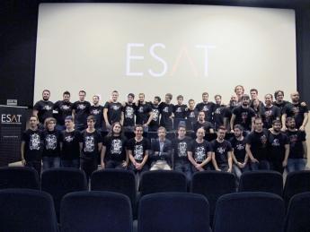 Foto de Alumnos en la presentación de los proyectos final de carrera