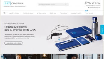 Foto de Web de regalos de empresa Gift Campaign