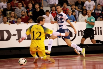 Partido fútbol sala LNFS en el pabellón Siglo XXI (Zaragoza)