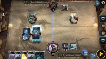 Imagen del tablero de juego de The Elder Scrolls: Legends