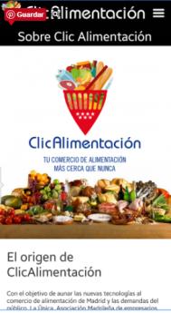 ClicAlimentación: nueva app del comercio local de alimentación de Madrid