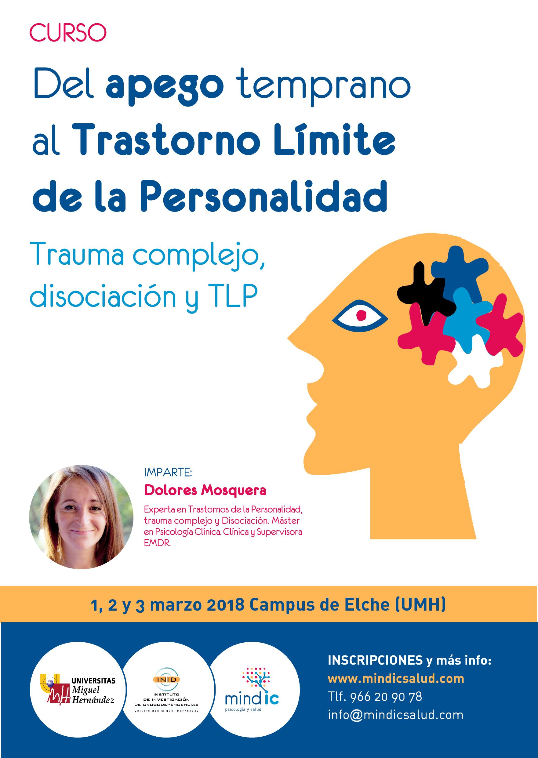 Foto de Cartel del curso de Trastorno Límite de la Personalidad