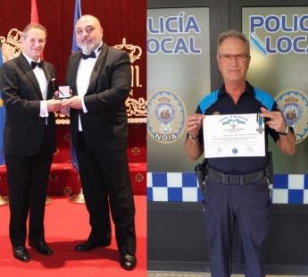 Un criminólogo y un policía gallegos, galardonados con la Cruz de Honor del Policía Europeo.