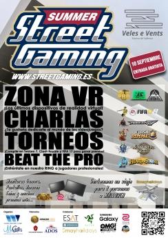 Poster del Summer Street Gaming de Valencia