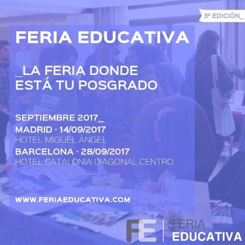 Feria educativa 2017 vuelve en septiembre con m s eventos for Proximas ferias en barcelona